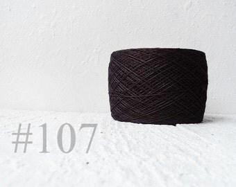 Black Linen yarn 100% linen # 107