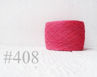 Laceweight Linen yarn - candy pink # 408