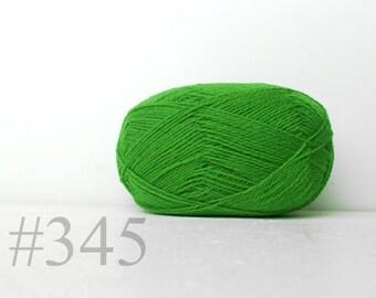 WOOL yarn 100%-knitting yarn - bright green # 345