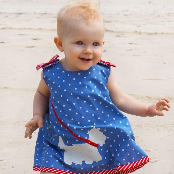 Baby Dress Sewing Pattern PDF, Childrens Sewing Pattern, Reversible Dress, Baby Sewing Pattern pdf, Toddler Pattern, SCOTTIE