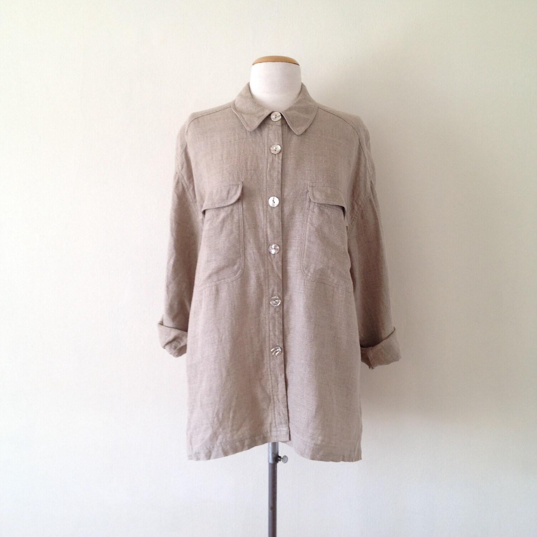 Women 39 s linen shirt blouse chiffon blouse pink for Linen women s shirt