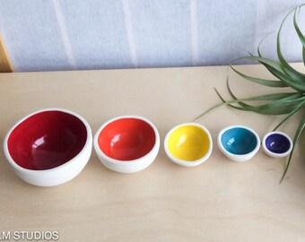 Mini Nesting Bowls - Rainbow, Home, Decor, Garden, Gift