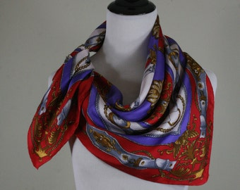Vintage Belts and Buckles Status Square Silk Scarf, Specialty House