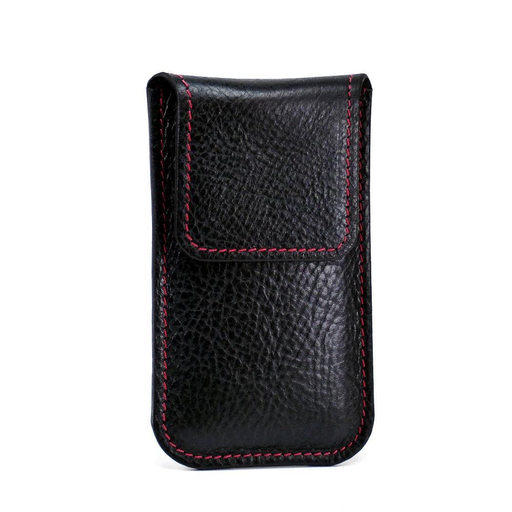 leather iphone 6 plus holster flap sturdy belt loop