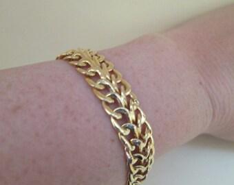 Vintage 14K Gold Chain Bracelet