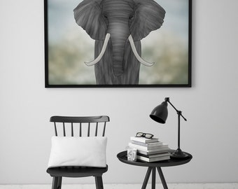 PRINT | ELEPHANT / Tiplers' Safari: Illustration Print.