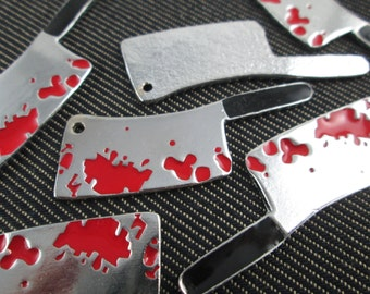 6 pieces - Horror Bloody Knifes cutter Charms Pendants   - CT - 0407