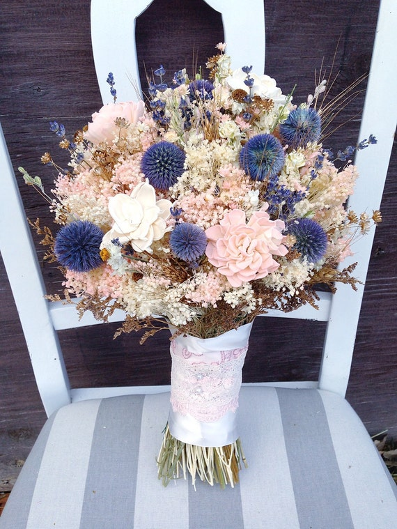 dried lavender bouquet wedding dried flower bouquet sola flower sola by knot2shabbydesigns 3754