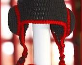 Handmade Crocheted CUSTOM Water Polo Helmet Hat Cap Unisex