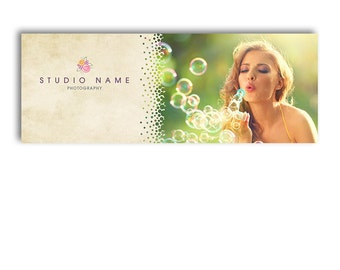 Photographer Facebook Timeline Cover - Photoshop Template - BUBBLY - 1002