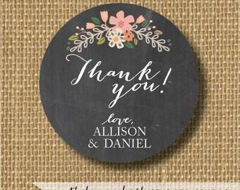 Chalkboard wedding stickers, chalkboard stickers, chalkboard gift tags, wedding favor tags, personalized wedding stickers, labels chalkboard