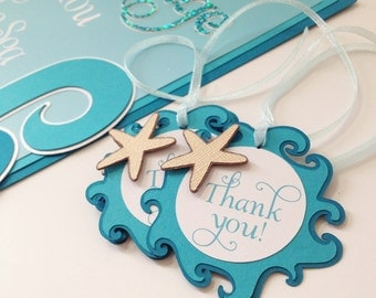 Under the Sea Favor Tags, Starfish Thank You Tag