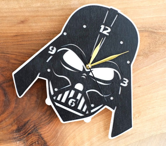Darth Vader Star Wars Wooden Wall Clock Ii By Woodandroot