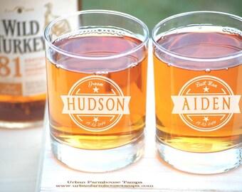 Personalized Wedding Whiskey Glasses, Groom Gift, Toasting Glasses, 2 Groomsmen Glasses, Custom Wedding Gift, Engraved Wedding Rocks Glasses