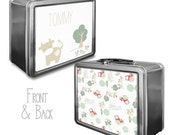 On the Farm Lunchbox & Memory Box- Cows, Chickens, Farm theme lunch box - Gifts for Boys - Holiday gifts for kids