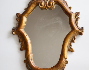 Vintage mirror frame / Victorian vintage golden mirror frame / Golden ornate frame / Vintage ornate mirror