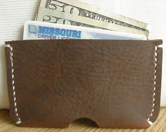 Leather Credit Card Sleeve/ Credit Card Wallet