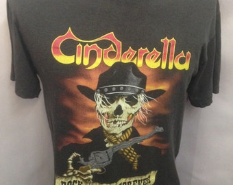 "Vintage Cinderella ""Rock and Roll Forever"" Tour T-Shirt Size Large"