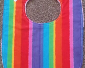 Rainbow Stripe Bib