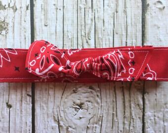 Bowdana Knot- Razzle Dazzle Red
