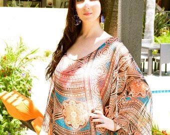 Beach coverup/ Boho dress / Caftan dress / Silk kaftan dress / Kimono