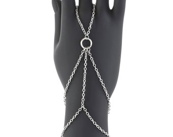 Silver Strand Hand Bracelet