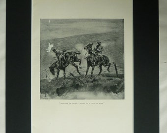 1920s Antique Horse Riding Print, Available Framed, Equestrian Art, Equine Picture, Lionel Edwards, Country Ride Picture, Countryside Decor