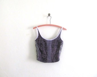 Fitted Purple Crop Top Sz XS