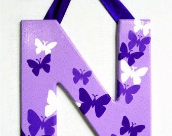 Wood Letter - Butterflies