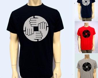 Men T Shirt Record Label Dj Vinyl Logo Print Men T Shirt 100% Cotton djs t shirt