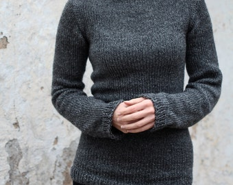 Knit Sweater Knitting Pattern - Great beginner sweater pattern - DISCIPLINE