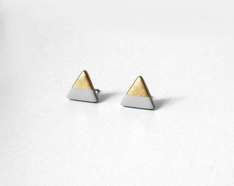 PALOMA GRAY Gold Dipped Triangle Stud Earrings
