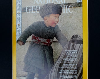 National Geographic Kirghiz Child Cover - magazine photographic art/cool gift/Afghanistan/Kabul/cute children