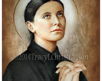 St. Gemma Galgani Art Print  Catholic Patron Saint #4089