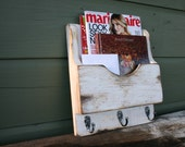 Mail Organizer-Mail Holder-Letter Holder-Organizer-Mail and Key Holder-Wall Mounted Key Rack-Mail Rack-Mail Sorter-Single