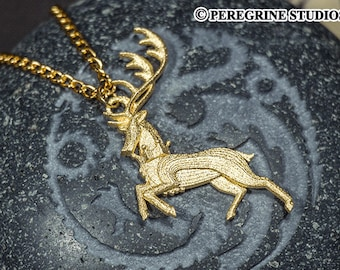 House Baratheon Pendant (Gold-Plated Steel)