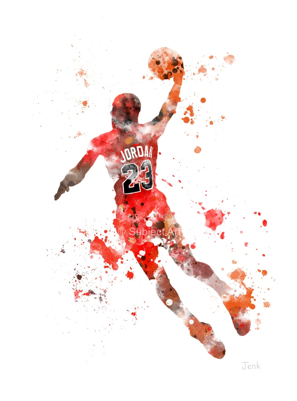 Michael Jordan Art Print Illustration Basketball Nba By