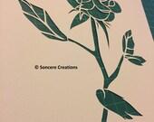 Cut it yourself papercut rose template - 'Valentine'