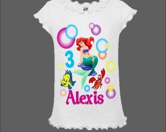 Little Mermaid Birthday Shirt - Ariel Shirt