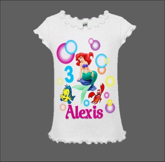 Ariel Birthday Shirts