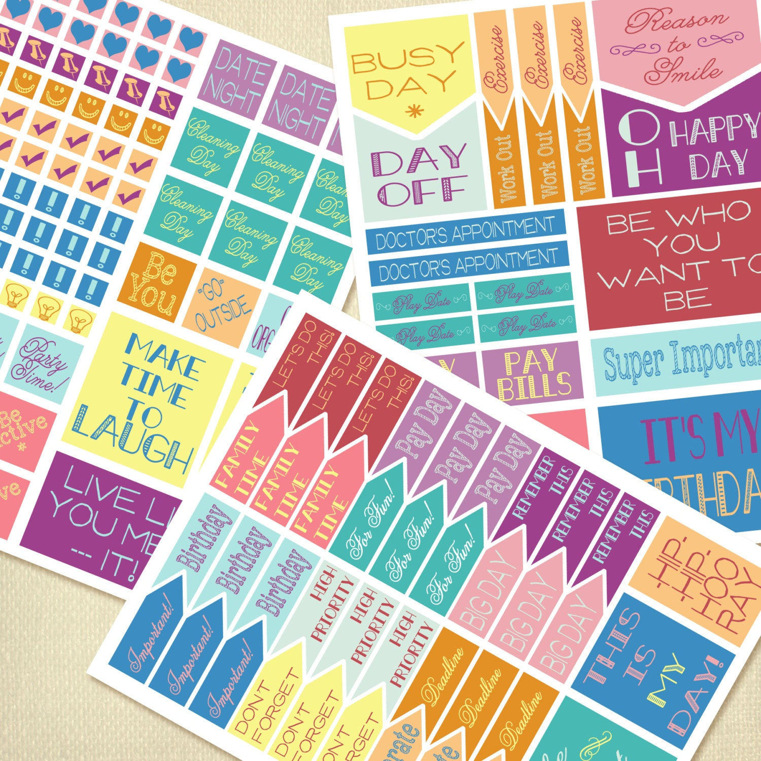 It is a photo of Ridiculous Planner Sticker Printables