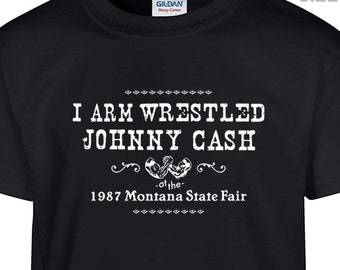 YOUTH / KIDS Arm Wrestling Johnny Cash T Shirt Funny Kids Shirts Funny Youth Shirt Country Rock Shirt