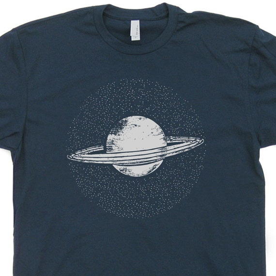 saturn planet t shirt science t shirt nerdy t shirts cool t shirt. Black Bedroom Furniture Sets. Home Design Ideas