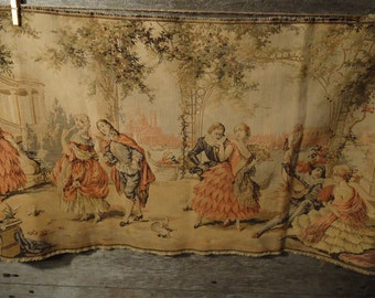 vintage French tapestry made in Belgium  fabulous french country