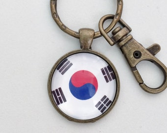 South Korea Flag Key Chain Bag Charm KC113