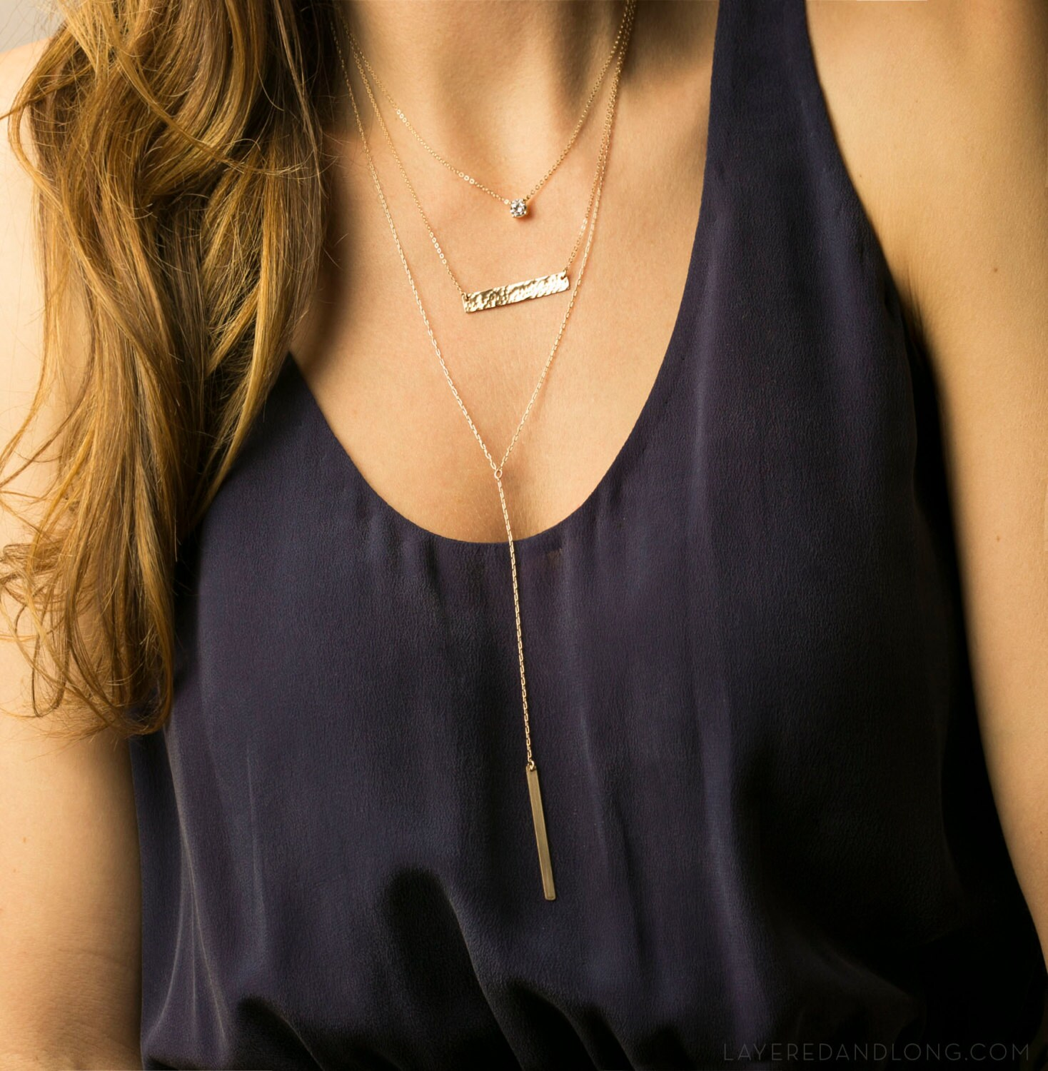 everyday delicate layered necklaces with bar necklace. Black Bedroom Furniture Sets. Home Design Ideas
