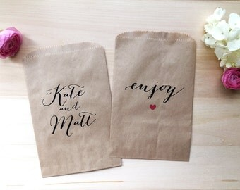 Custom Wedding Favor Bag / Candy Buffet Bags / Wedding Candy Bags / Wedding Favors / Favor / Treat Bags / Custom Favor Bags / Personalized