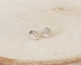 Hammered silver studs, studs, hammered earrings, hammered studs, sterling silver, earrings, sterling silver earrings, sterling silver studs