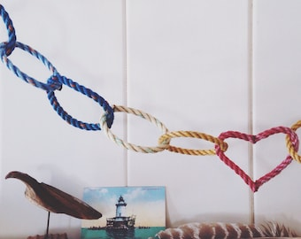 Nautical Rope Garland - Inspired By The Life Aquatic - recycled lobster rope