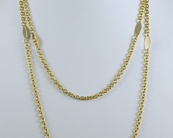 Vintage Necklace Gold Toned Chain Necklace 1960s